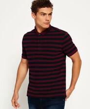 Neues Herren Superdry City Stripe Polo-Shirt Eclipse Navy