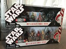 STAR WARS REPUBLIC ELITE FORCES MANDALORIANS & CLONE TROOPERS & OMEGA SQUAD SET