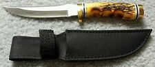 """Whitetail Cutlery Bowie Imitation Stag w/ Sheath 9 1/2"""" (Discontinued) Frost"""