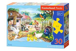 Castorland B-03310 Puzzle Farm Tierfarm Tierpuzzle Kinderpuzzle 30 Teile