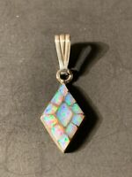 Details about  /Southwest Saguaro Cactus Sterling Silver Sugilite Opal pendant handcrafted NEW D