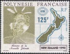 Polinesia FRANCESE 1990 MAORI/mappa/Persone/stampex/Heritage/ANIMAZIONE 1 V (n37480)