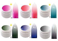 6x 5ml Trendfarbe Thermo Farbgel UV Gel Farbwechsel TG-Set 3