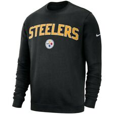 Nike Men's XXL 2XL Crew NFL Pittsburgh Steelers Sweatshirt Top Jumper BQ8143-010