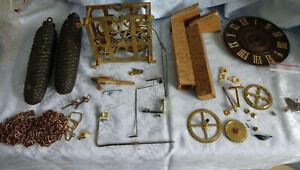 altes sehr großes Uhrwerk für eine Bahnhäusleuhr oder Kuckucksuhr