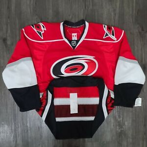NWT Reebok TI Carolina Hurricanes Blank On-Ice Authentic NHL Hockey Jersey
