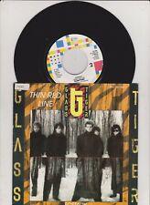 "7"" Glass Tiger / Thin Red Line (near mint ) Promo Info"