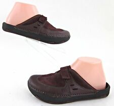 Kalso Earth Exer Clog Slide Shoes Merlot Leather Sz 6B