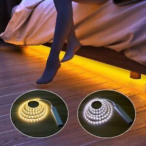 LED Strip Streifen mit PIR-Bewegungsmelder Batteriebetrieb Treppenlicht band DHL