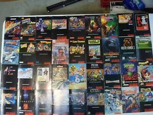 Choose: Super Nintendo SNES Instruction Manuals, 100% Original, Pick from List