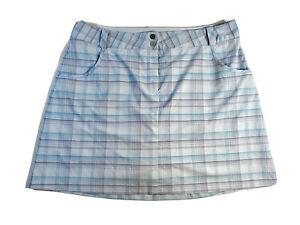 Nike Golf Light Blue Plaid Skirt Skort size 16