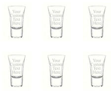 Personalized Set of 6 Custom Shot Glass Glasses 1.75oz Free Engraving Groomsmans