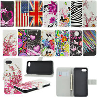 Leather Flip Phone Wallet Pocket Cover Case For Sony Xperia Z2 Z3 Samsung S6 S7