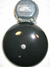 "Vintage 8"" electric alarm bell by A.D.T."