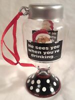 "Purdy Holliday Ornament Redneck He Sees you when your drinking 3.75"" tall"