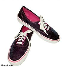 VANS Authentic  MAGENTA SHIMMER Womens Shoes (Display) Purple Pink Sparkle Sz 8