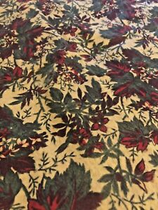Vintage Fabric Textile Printed brushed Flannel 1950s piece Camo idea inspiration