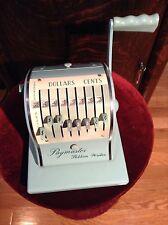 Vintage Paymaster Corp. Ribbon Writer Check Writer Series 8000  Works