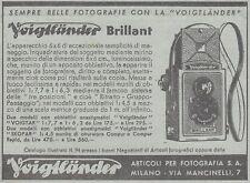 Y3552 Apparecchio fotografico Voigtlander Brillant - Pubblicità - 1937 old ad