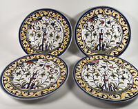 "Williams Sonoma Portugal Nazari Set of 4 Plates 8"" SEZ=XVII  Hand Painted #126"