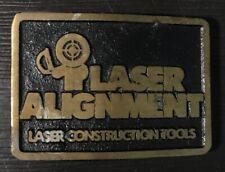 Laser Alignment Construction Tools Vintage Belt Buckle 1970's
