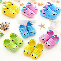 Summer Toddler Baby Boys Girls Cute Cartoon Beach Sandals Slippers Flip Shoes AU