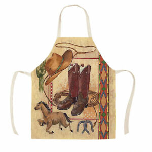 HORSE & WESTERN GIFTS ACCESSORIES KITCHEN WESTERN BOOTS PRINT APRON ADULT