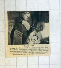 1955 Master Blacksmith John Henry Evans Pontypridd Brown Lenox