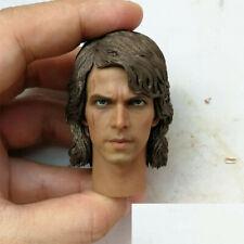 """Custom 1/6 Anakin Skywalker Man Head Sculpt PVC Model Fit 12"""" Figure Body"""