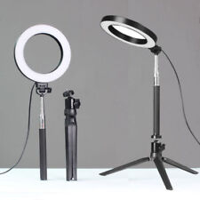 "6"" LED Ring Light w/ Stand Kit 5500K Dimmable Lighting Makeup For Camera Phone"