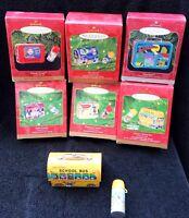 Hallmark Keepsake Pressed Tin Ornament Lunchbox Lot of 6 Disney Superman Jetsons