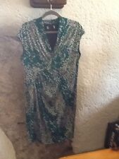 Per una Day Dress In Green Print Size 16