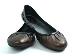 COLE HAAN BRONZE GENUINE LEATHER FLAT BALLET SHOES SIZE 7.5 B