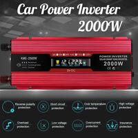 2000W 12/24V To 220/110V Modified Sine Wave Power Inverter Car Charger Converter