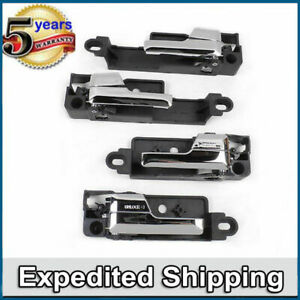 MotorKing UPGRADED interior inside door handle SET 4 For Ford Fusion Milan MKZ