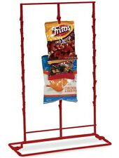 Counter Chip or Snack Display Rack - 3 Strip 36 Clip (Red)