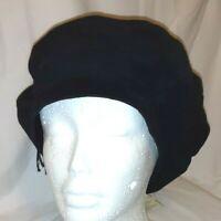 Vintage Leathers by Par Heaslip Black Suede Leather Hat (PB)