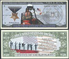 Lot of 25 Bills - Us Coast Guard Mission Million Dollar Bill