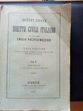 Libro antico di Diritto Civile 1887