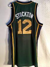 Adidas Swingman NBA Jersey Utah Jazz John Stockton Green Alt sz L