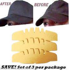 SAVE! 3 Pk. BEIGE-Caps Crown Inserts| Hat Shaper| Hat Foam Liner| Brim crown cap