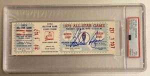 1972 NOLAN RYAN Signed Baseball All-Star Game Ticket Ex 5 PSA/DNA Auto 10 Braves