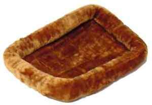 Plush Dog Bed Large 24x13 Inch Pet Mat Fleece Cushion Warm Soft Machine Washable
