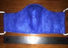 Blue Face Mask, 2 fabric layers, fitted, reversible, washable, reuse, adult