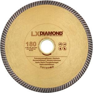 LXDIAMOND Diamant-Trennscheibe 180mm x 25,4mm Feinsteinzeug Fliesen Naturstein