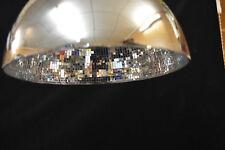 CHROME MOSAIC GLASS PENDANT LIGHT SHADE