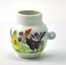 Vintage Porcelain Handmade Hand painted Birdfeeder Bird feeder Rooster Hen Chick