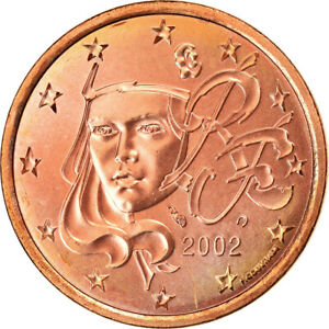 [#764074] France, 5 Euro Cent, 2002, AU(55-58), Copper Plated Steel, KM:1284