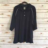 FootJoy Men's ProDry Pique Blue Short Sleeve Polo Shirt Size XL