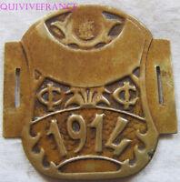 PLQ061 - PLAQUE  VELO TAXE 1914